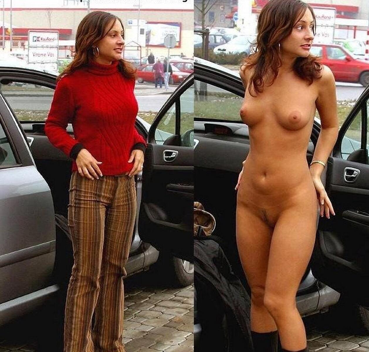 Девушки голые в одежде