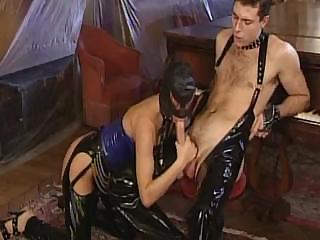 Porno Video of Tempted Guy In Leather Suit Fucks His Obedient Slave Girl In Sweet Ass