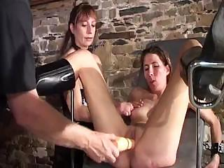 Porno Video of Nasty Experimenting Mistress Conducts Unusual Sexual Practices On These Fellows