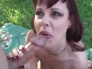 Porno Video of Rouquine Mature Whore In The Garden