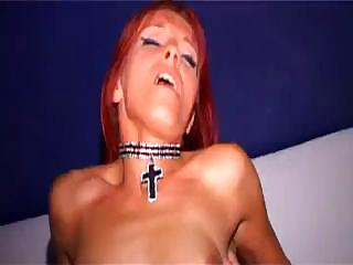 Porno Video of Red-haired Babe Angie Kisses Passionately One Big Delicious Schlong