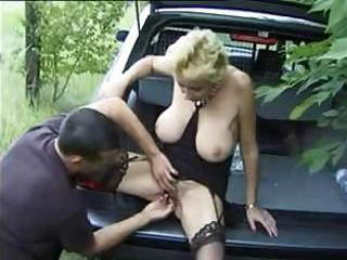 Porno Video of Busty Granny Gets Fingered In The Backseat Of A Car And Then Fucked Nicely