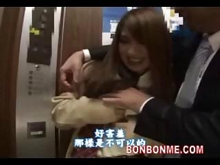 Porno Video of Japanese Schoolgirl Blowjob And Fucked In Elevator