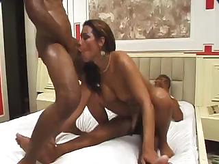 Porno Video of Dirty Threesome Sex With Very Passionate Big-dicked Transsexuals
