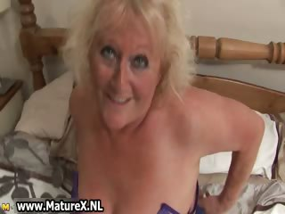 Blonde mature housewife in sexy black part3