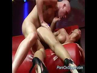 Porno Video of Nasty Babe Does Porn On Stage