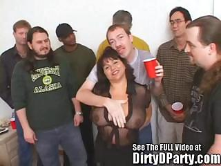 Porno Video of Susie's Gang Bang Bukkake Party With Dirty D