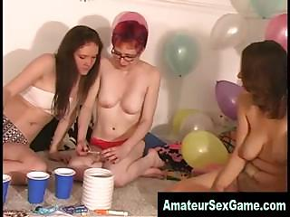 Porno Video of Lesbian Amateurs Play Sex Dare Games