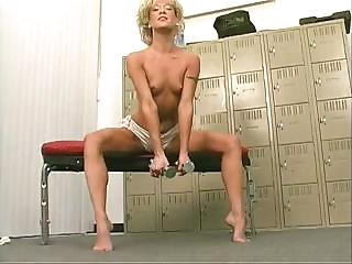 Porno Video of This Blonde Wants The Full Workout Complete With Green Dildo