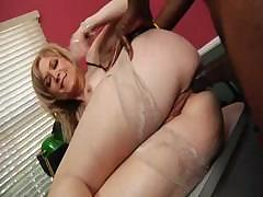 Cheeky Nina Hartley takes a huge black cock up say no to tight ass