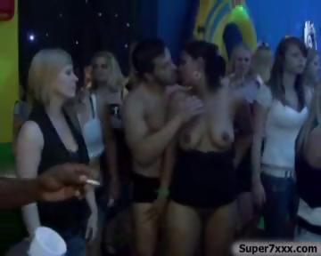 Porno Video of Big Orgy In Night Club