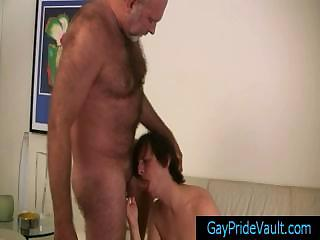 Old gay bear getting his dick sucked by twink gaypridevault