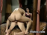 Fist Smothering Sex For Busty Woman