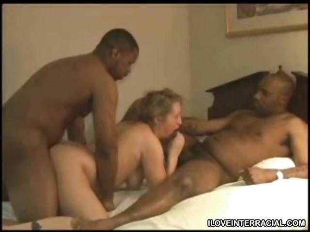 Porno Video of White Girl Spitroasted