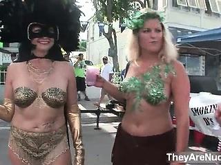 Mature women go crazy walking naked part1