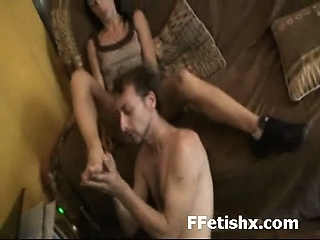 Extreme Slut Entertaining Toe Worship