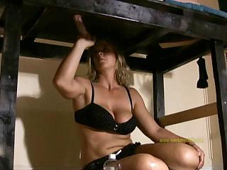 Porno Video of Mistress Masturbates A Man's Cock Through A Gloryhole