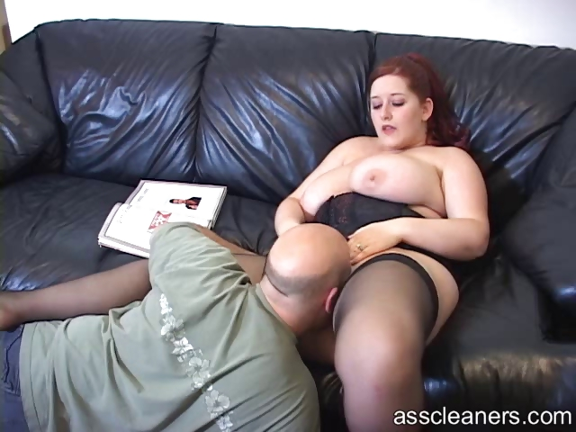 Porn Tube of Big Titted Mistress Lets Man Lick Her Pussy Before Her Ass Hole