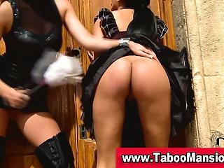 Lesbo domina spanks