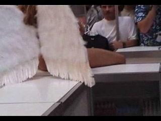 Denise nude in public as an angel by snahbrandy