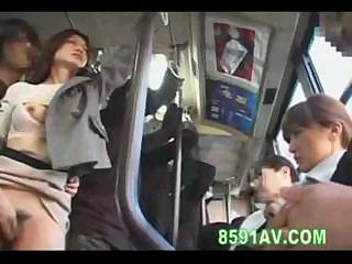 Porno Video of A Little Extra Action On The Bus While She Fucks This Guy