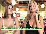 Taryn and danielle busty women public flashing boobs | Big Boobs Update