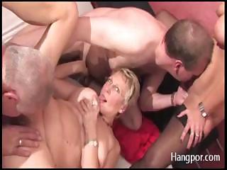 Mature swingers have a hot orgy and lots of cocks and cum