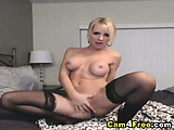 Gorgeous blonde toying her pussy till she orgasm | Big Boobs Update
