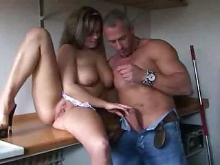 Porno Video of German Pussy Fucking In Kitchen Big Tits