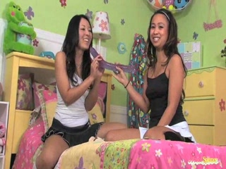 Ariel spinner with her asian friend