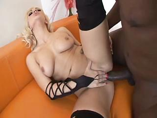 Hot Lea Lexis takes on a large, hard black cock with passion