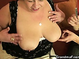 Horny plumper takes two dicks at once | Big Boobs Update