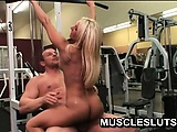 Horny muscle babe invites her fitness instructor to fuck her pussy | Big Boobs Update