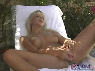 Porno Video of Pretty Jana Cova Shows Off Her Hot Body And Masturbates Outside