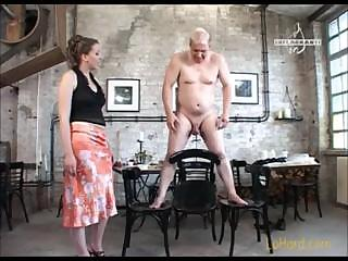 Porno Video of Dude Is Tied Up And His Mistress Is Putting Him Through Her Paces