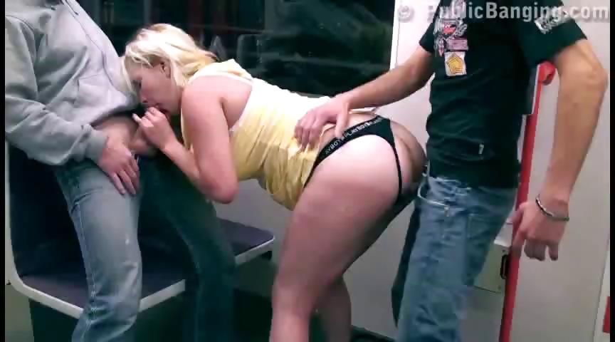 Porno Video of Risky Public Threesome In A Subway. Cool!!