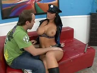Sex Movie of Busty Cop Jaydem James Questions Hard Cock With Her Mouth And Pussy