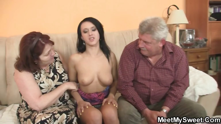 Porn Tube of Innocent Girl Is Seduced By Granny And Fucked By Old Daddy