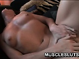 Muscle slut takes huge black cock in her tight pussy | Big Boobs Update