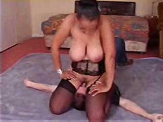 Porno Video of Girl In Lingerie Sits On His Face And Makes Him Eat Her Pussy