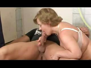 Porn Tube of German Grandma Takes A Younger Cock In Her Mouth And Pussy