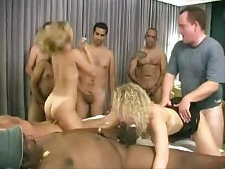 Porno Video of These Babes Take On As Many Cocks As They Can At Swinger's Party