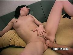 Телка с огромным мужиком порно