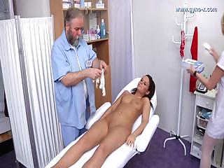 Porno Video of Doctor Checks Brunette S Holes