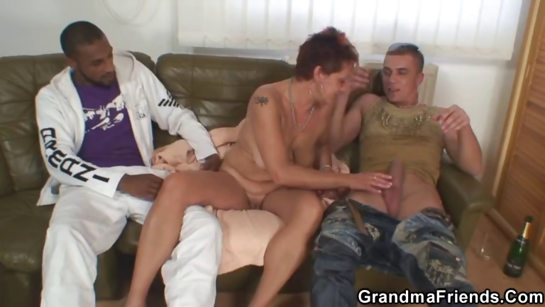 Porno Video of Dirty Granny Takes Two Big Cocks