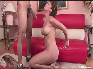 Porno Video of Horny Milf Vanessa Sucks On The Black Cock Before She Fucks It