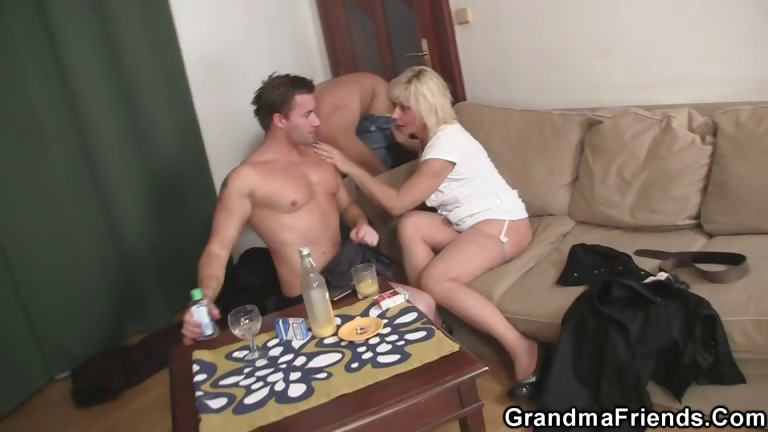 Porno Video of Lonely Granny Needs Two Fresh Cocks