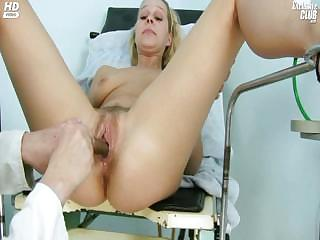 Porno Video of Blonde Tina Getting Pussy Speculum Examined By Gyno Doctor