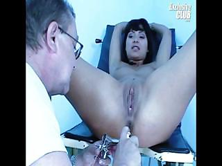 Porno Video of Terra Joy Pussy Speculum Gynochair Examination
