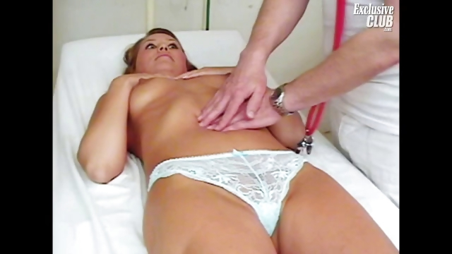 Porn Tube of Hot Divorced Mom Janelle Looking Forward To Her Old Gyno Doctor